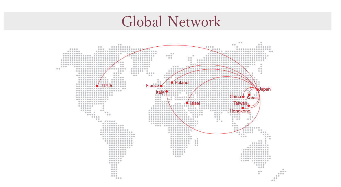 The international map of Global Network